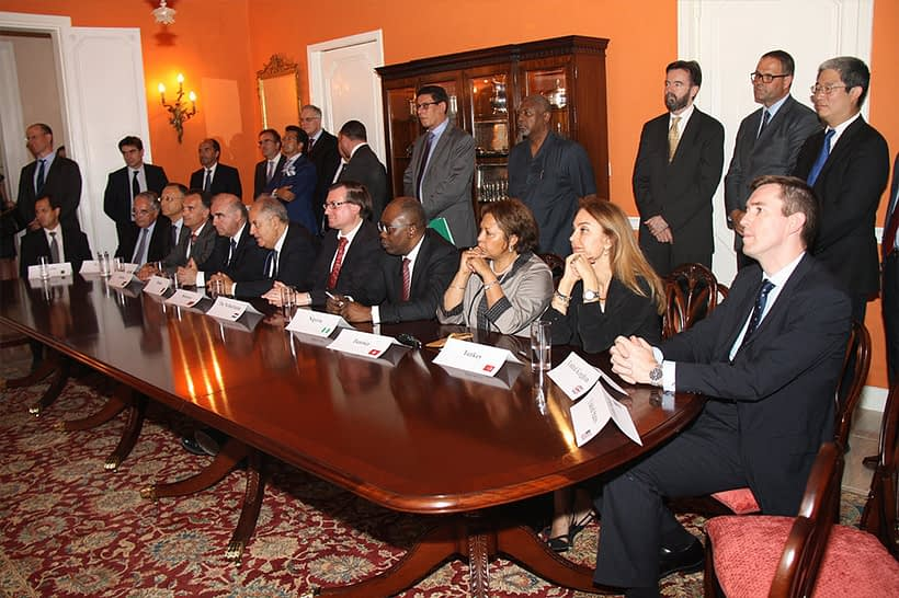 Representatives the 12 Founding nations of the IIJ—Algeria, France, Italy, Jordan, Malta, Morocco, The Netherlands, Nigeria, Tunisia, Turkey, the United Kingdom, and the United States—gathered to sign the IIJ's Deed, officially incorporating the IIJ as a Maltese foundation