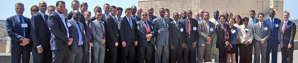 """Participants of the IIJ's inaugural training workshop, """"Addressing Challenges in the Prevention of Recruitment and Aiding of Terrorists, and in the Prosecutions of Terrorists in the Sahel-Maghreb."""""""